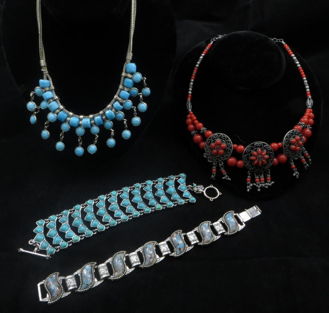 (4) PIECES SOUTHWEST STYLE COSTUME JEWELRY