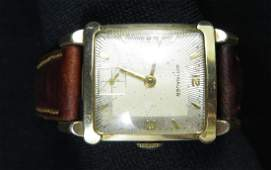 10K GOLD FILLED MENS WITTNAUER VINTAGE WRIST WATCH