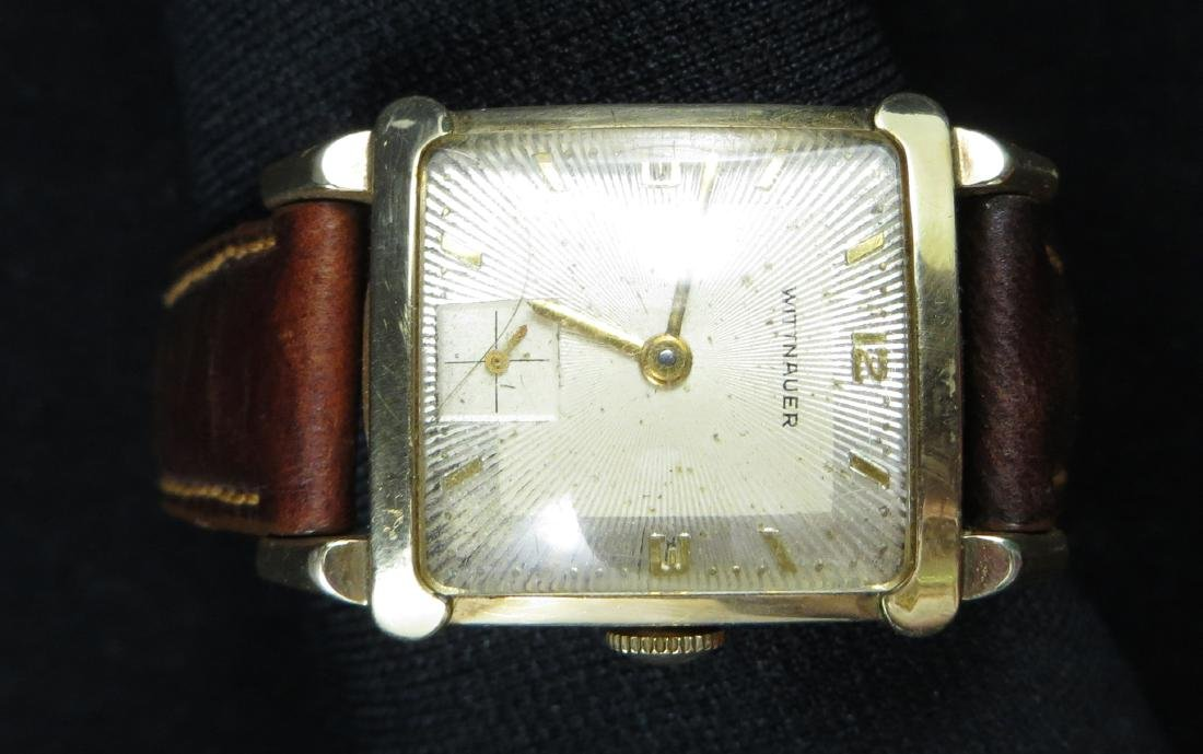 10K GOLD FILLED MEN'S WITTNAUER VINTAGE WRIST WATCH