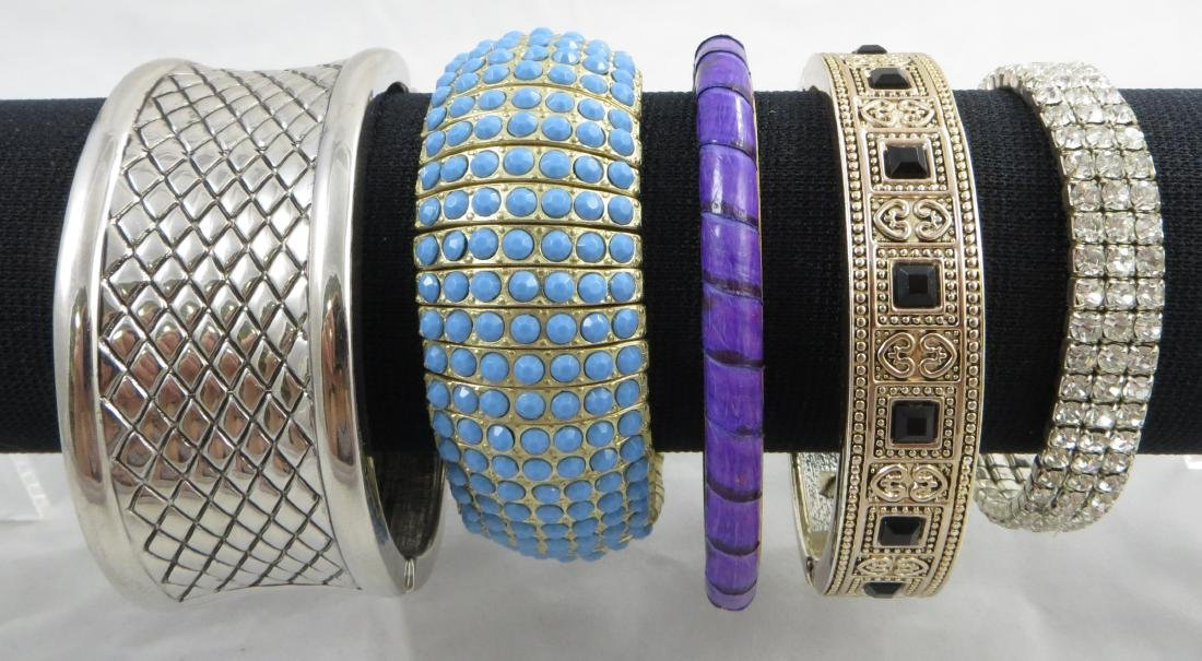 (5) CONTEMPORARY COSTUME BRACELETS