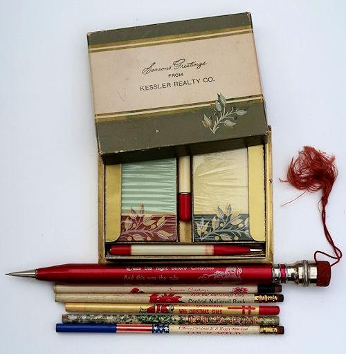 Vintage Christmas Related Lead Pencils / Mechanical