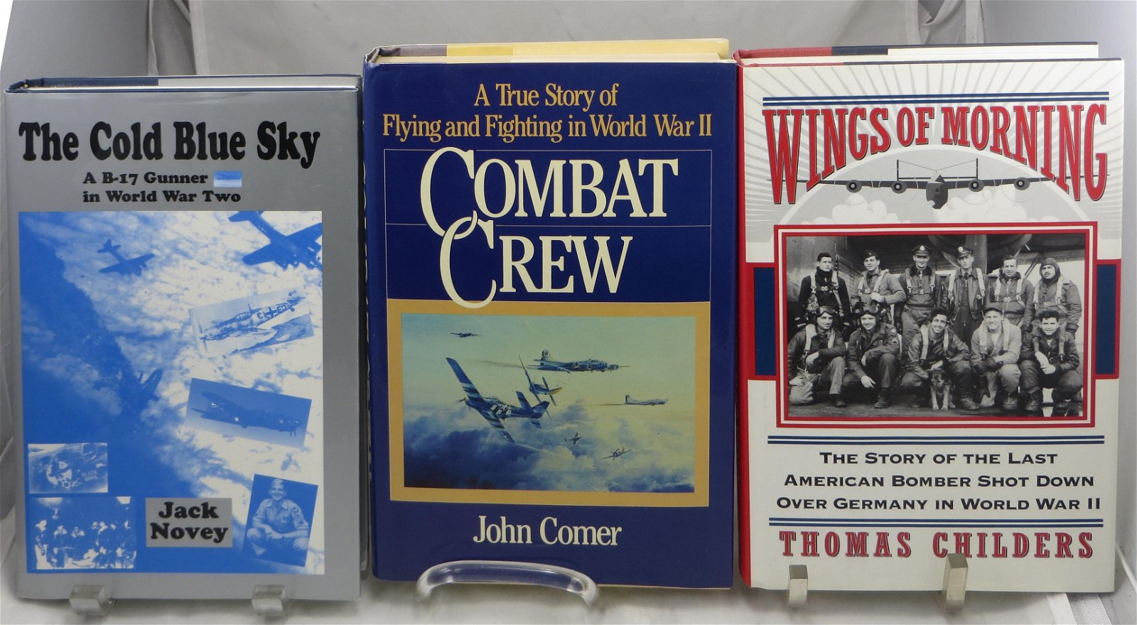 (3) SIGNED AVIATION THEME WW2 BOOKS:  COMER, CHILDERS,