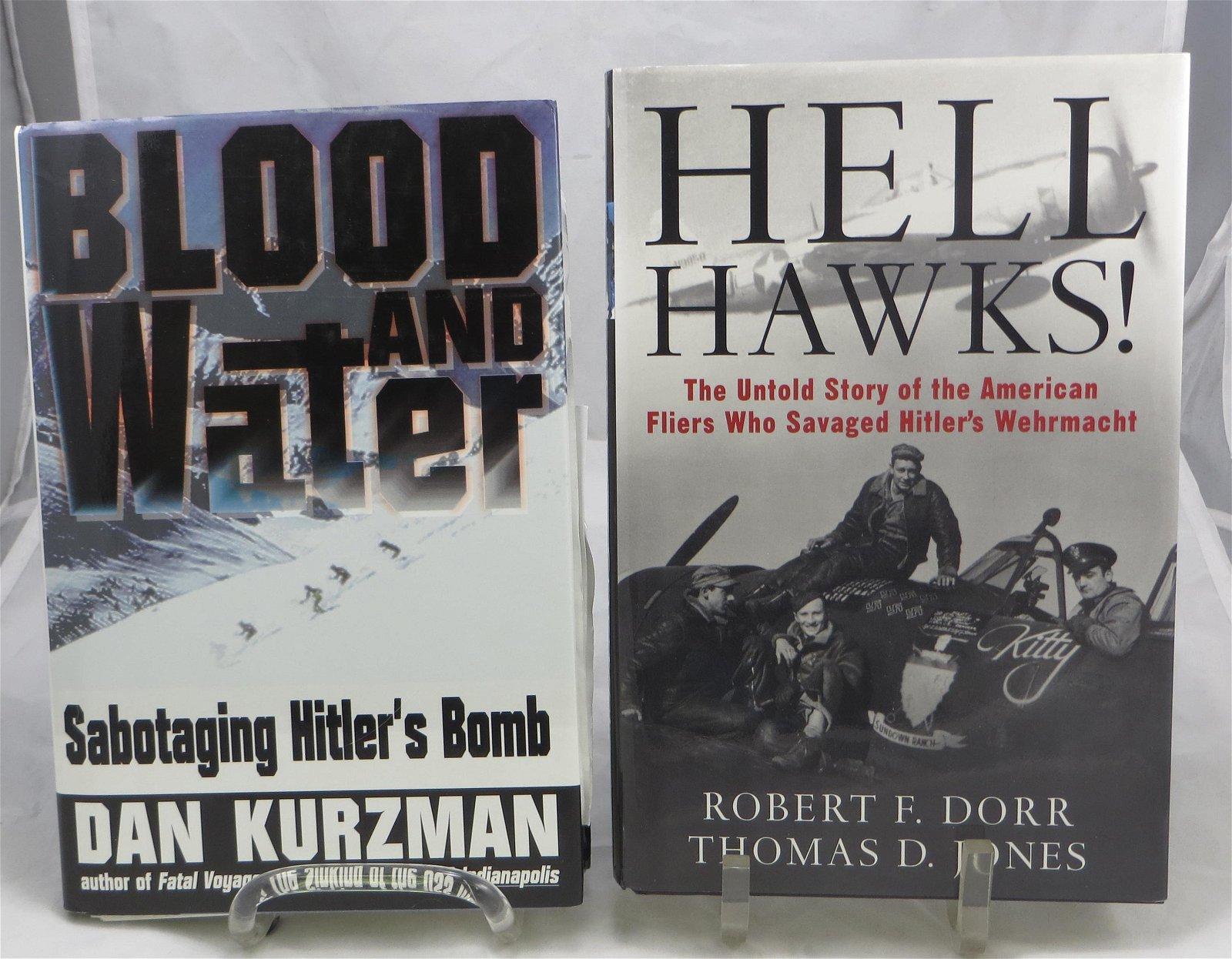 (2) SIGNED WW2 THEME BOOKS: DORR & JONES, KURZMAN
