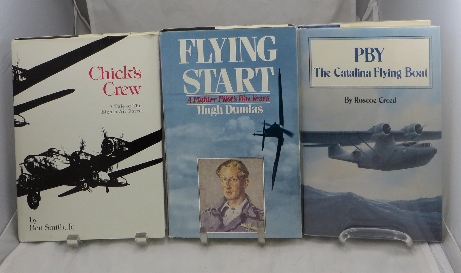 (3) SIGNED WW2 AVIATION BOOKS: PBY & PILOTS; CREED,