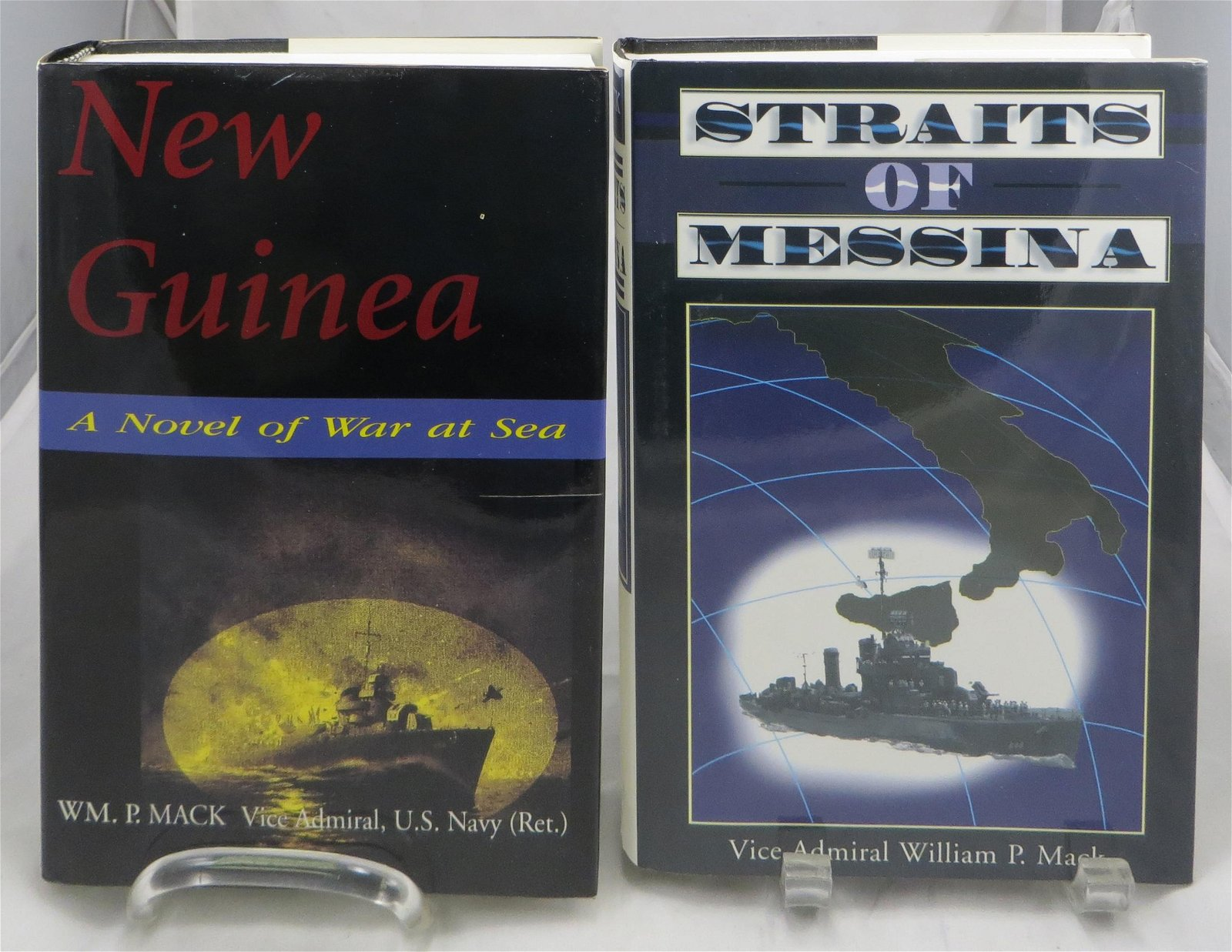 (2) WW2 THEME NOVELS, SIGNED -VICE ADM. William P. MACK