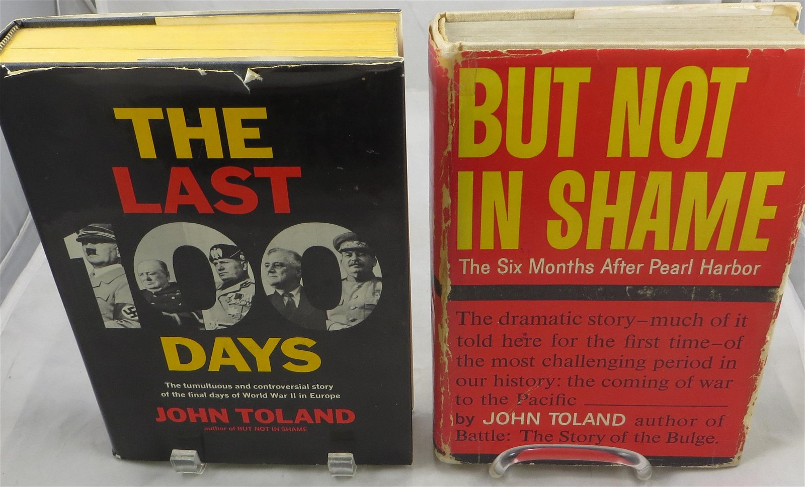 (2) WW2 THEME SIGNED JOHN TOLAND BOOKS
