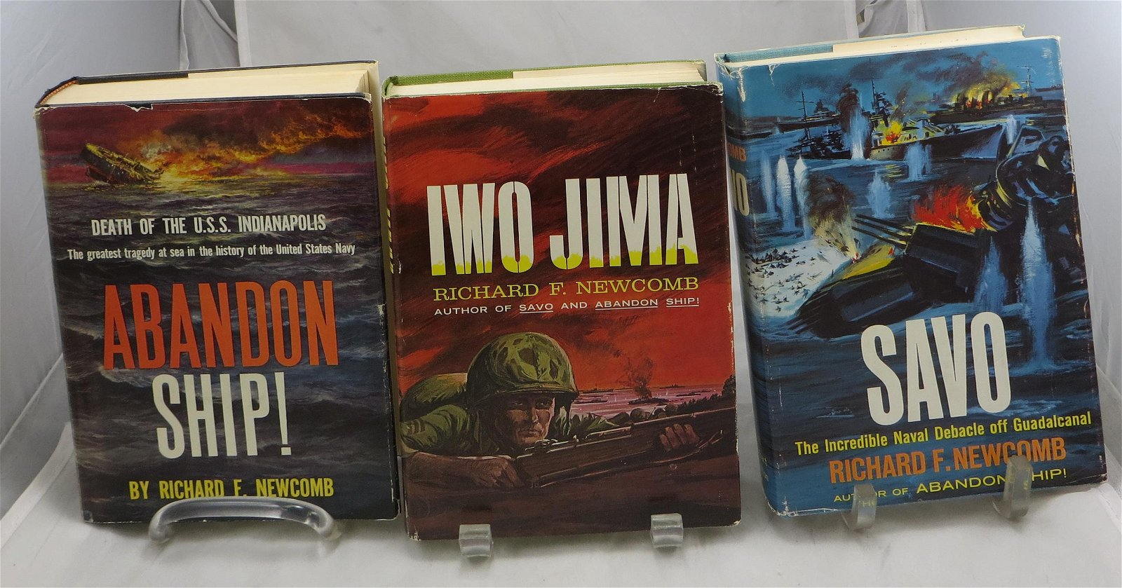 (3) WW2 NAVAL BOOKS BY RICHARD NEWCOMB, SIGNED