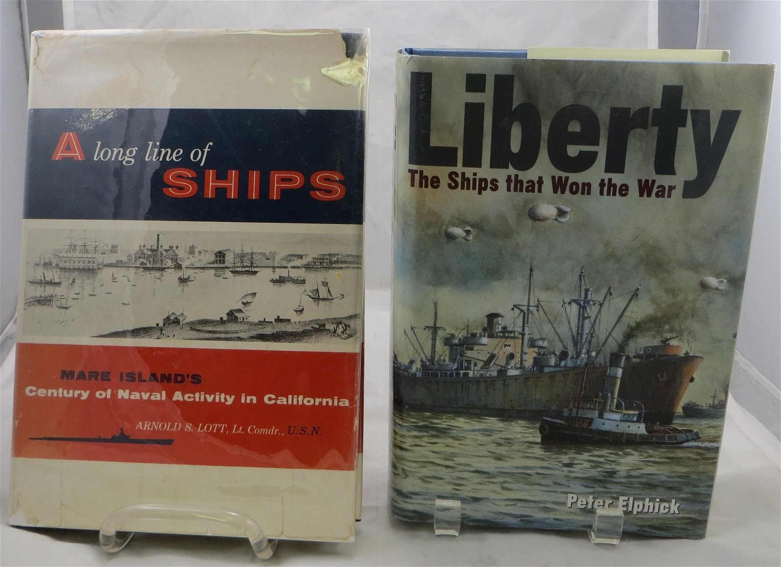 (2) NAVAL RELATED BOOKS:  LIBERTY SHIPS & MARE ISLAND