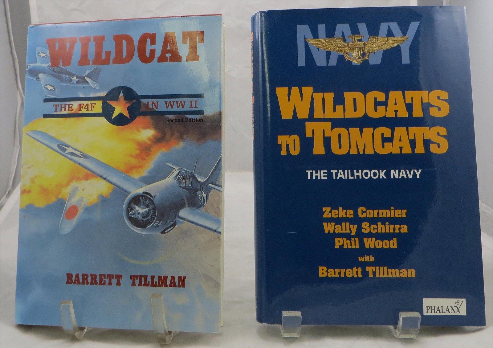 (2)  WORLD WAR II BOOKS - WILDCAT THEME, TILLMAN,