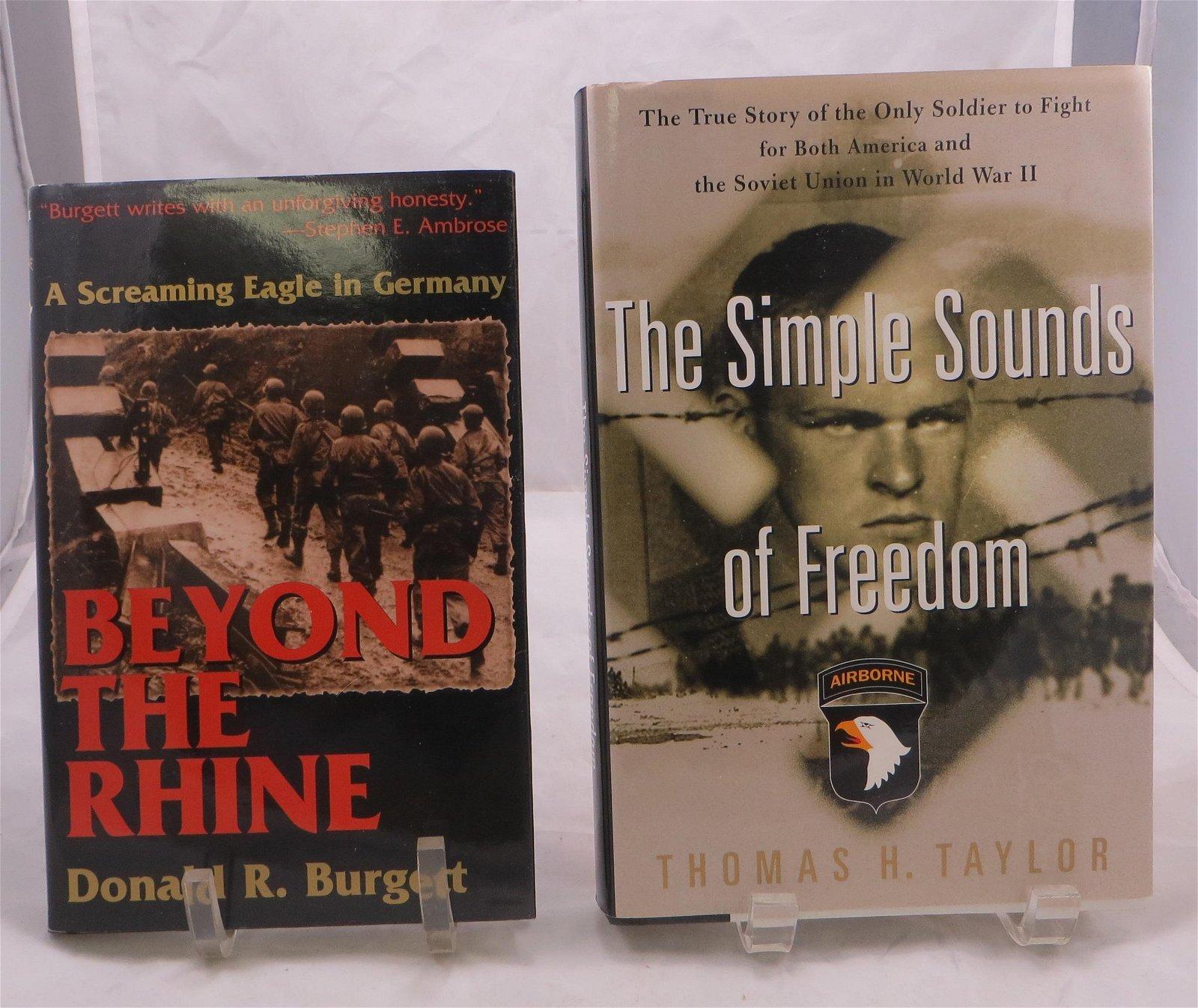 (2) WW2 BOOKS - PARATROOPER ACCOUNTS, BURGETT & TAYLOR