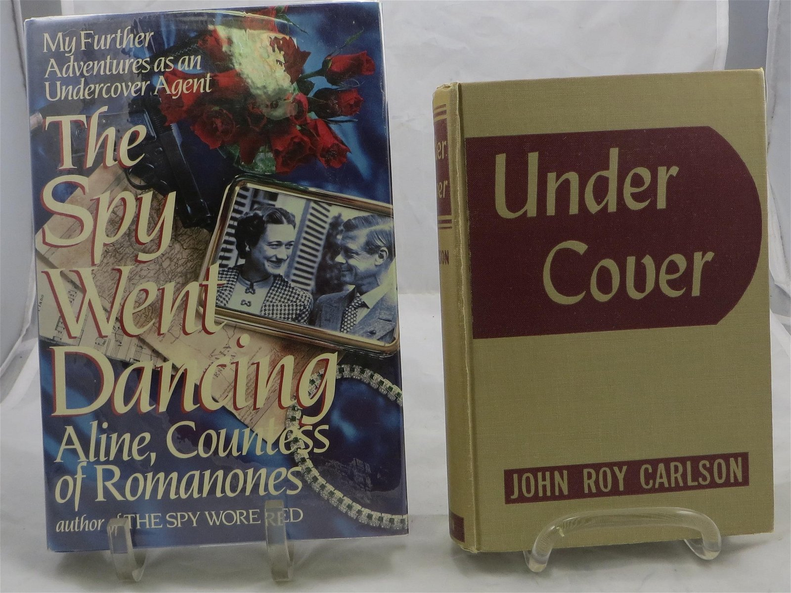 (2) WORLD WAR 2 VINTAGE BOOKS - SPY RELATED: CARLSON &