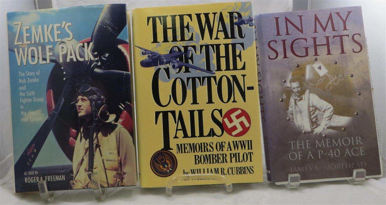 (3) WORLD WAR 2 AVIATION BOOKS: P-40, BOMBER PILOT,