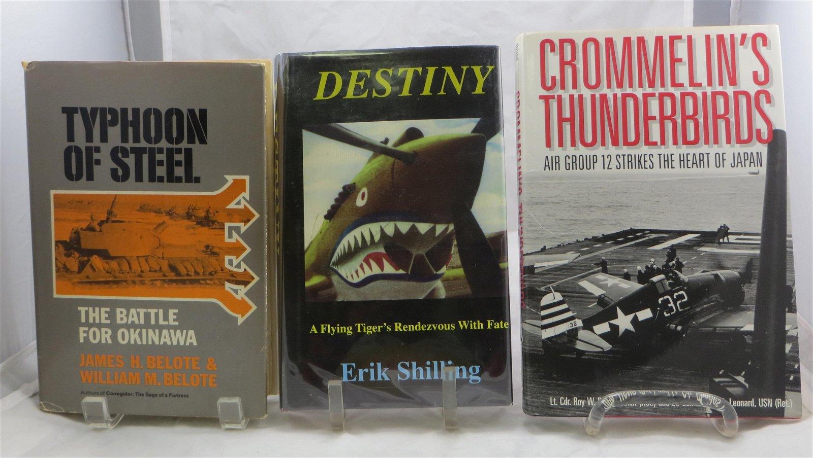 (3) WW2 BOOKS - JAPANESE THEATER:  SHILLING, BRUCE,