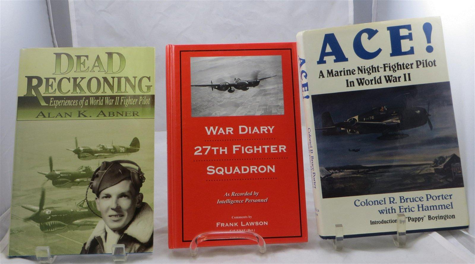 (3) WORLD WAR II BOOKS - AVIATION - PORTER, ABNER,