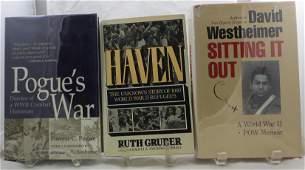 (3) WW2 BOOKS: REFUGEES, POW, COMBAT HISTORIAN