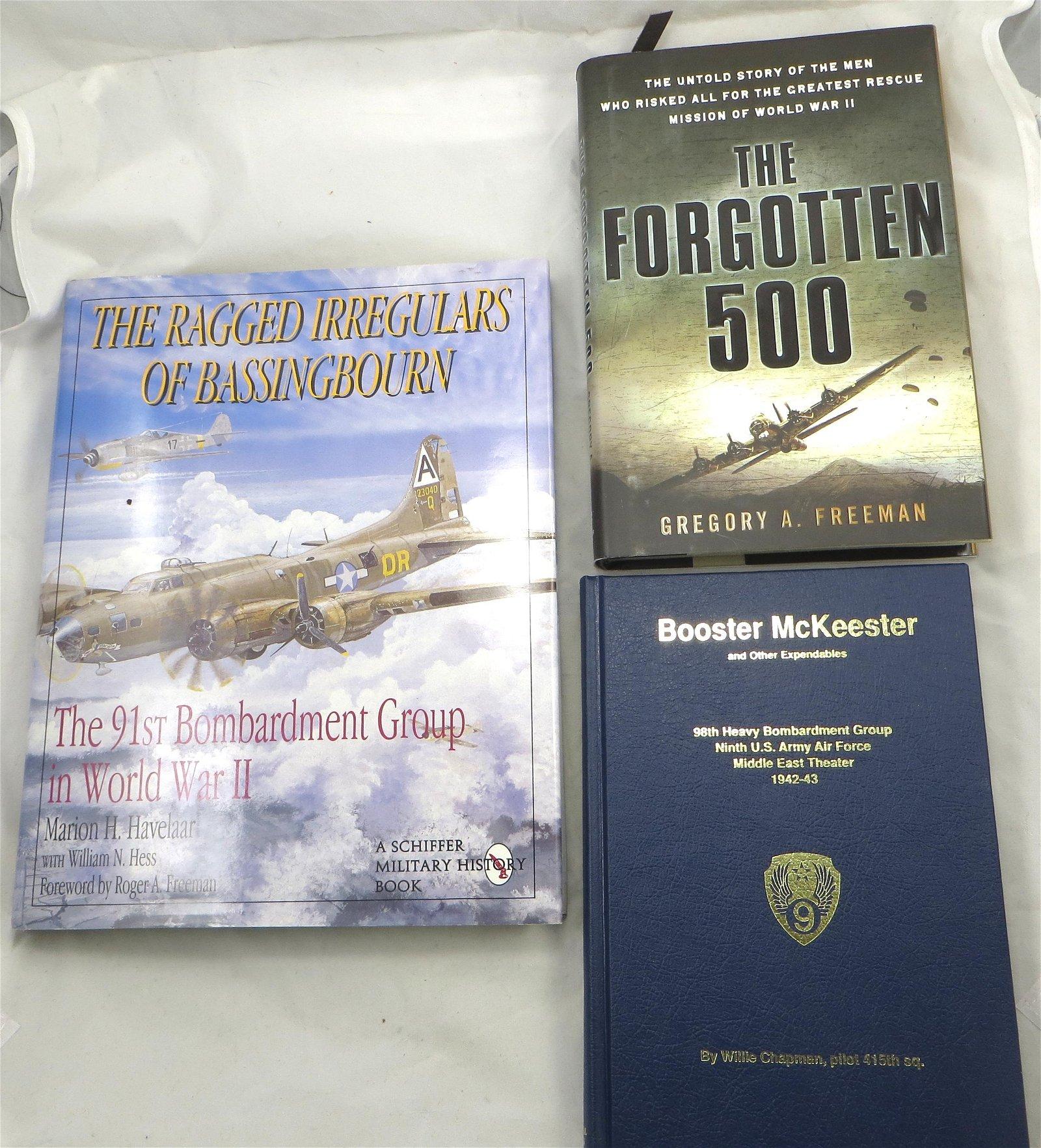 (3) WW2 AVIATION THEME BOOKS, BOMBARDMENT GROUPS ETC