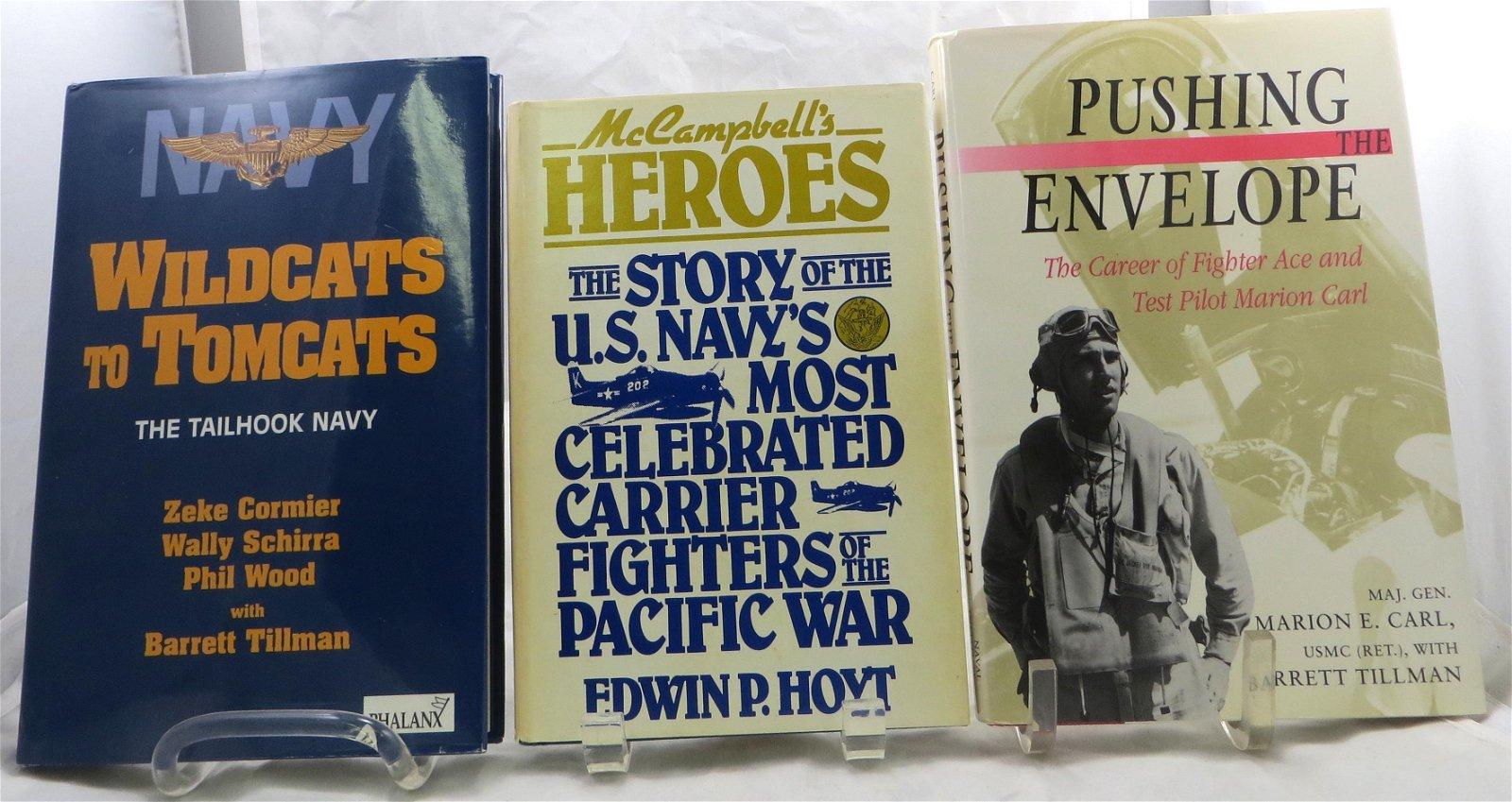 (3) WORLD WAR 2 AVAIATION ACE THEME BOOKS - CARL, HOYT,