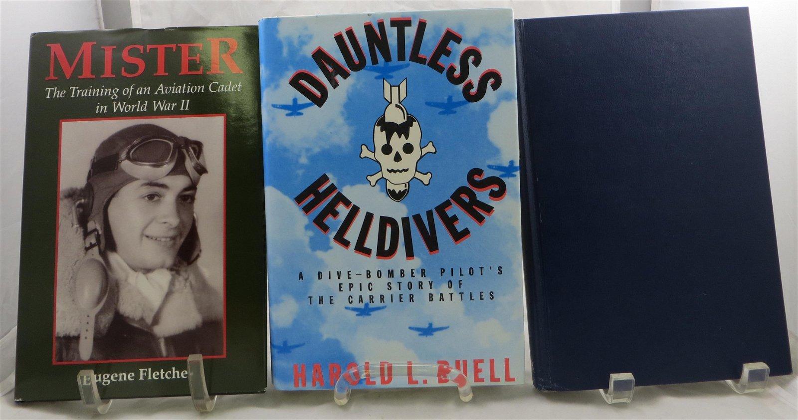 (3) WORLD WAR 2 AVIATION THEME BOOKS:  HELLDIVERS,
