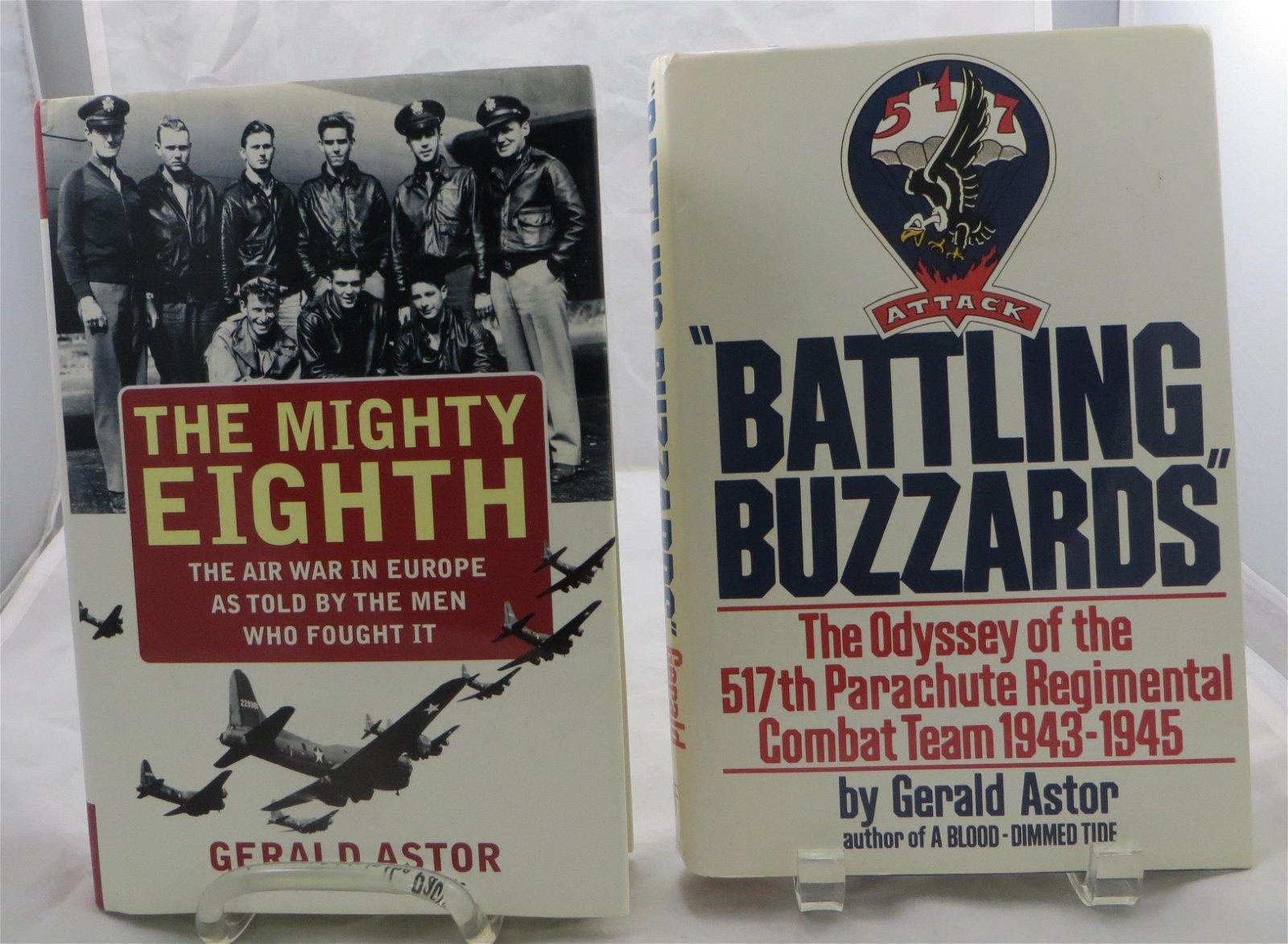 (2) WW2 BOOKS, ASTOR: BATTLING BUZZARDS, MIGHTY EIGHTH;