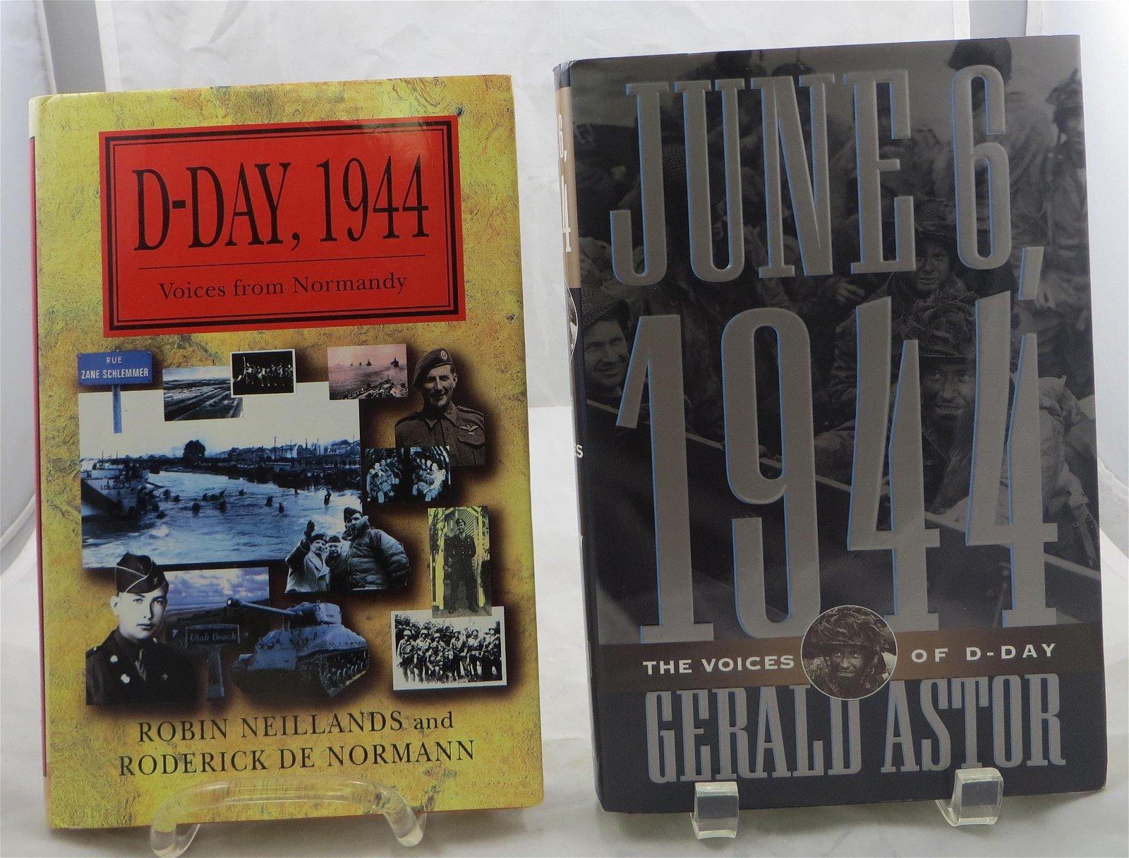 (2) WW2 BOOKS - D-DAY THEME, NEILLANDS / de NORMANN and