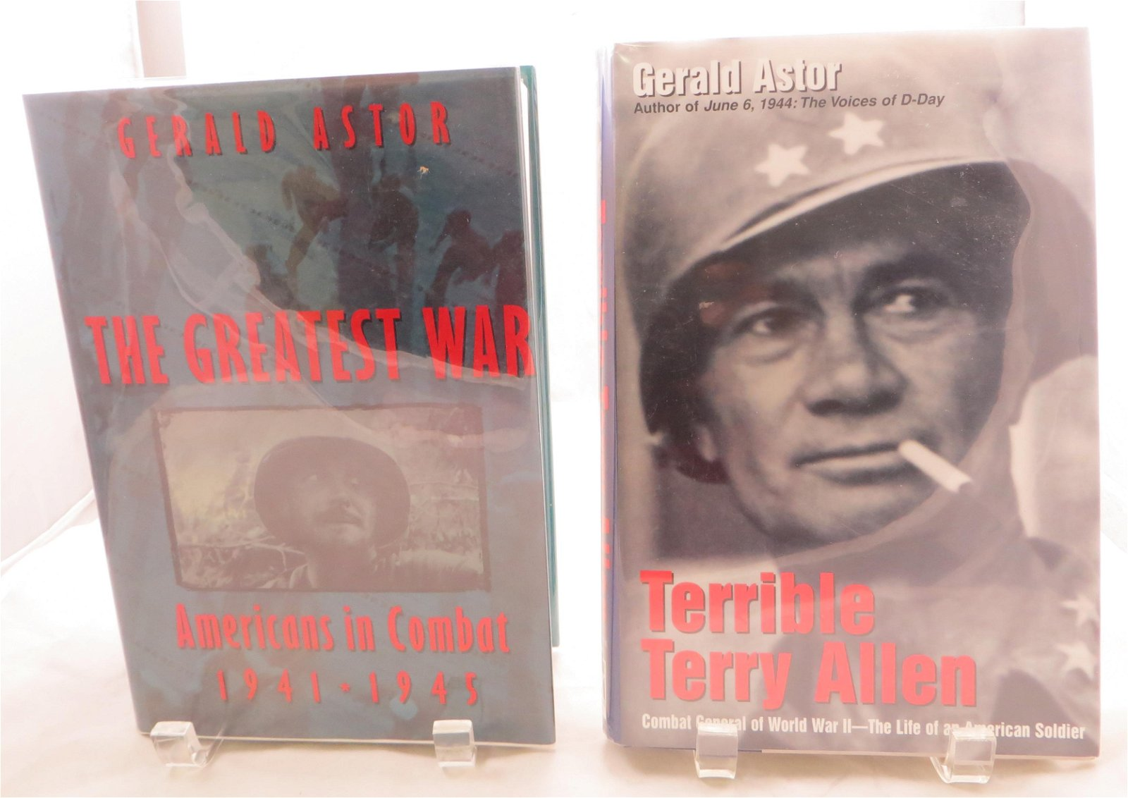 (2) WW2 BOOKS, ASTOR:  TERRIBLE TERRY ALLEN & THE