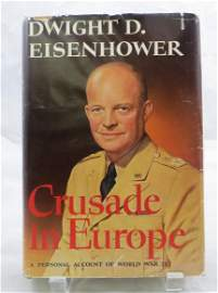 WW2 BOOK: EISENHOWER, CRUSADE IN EUROPE, SIGNED by