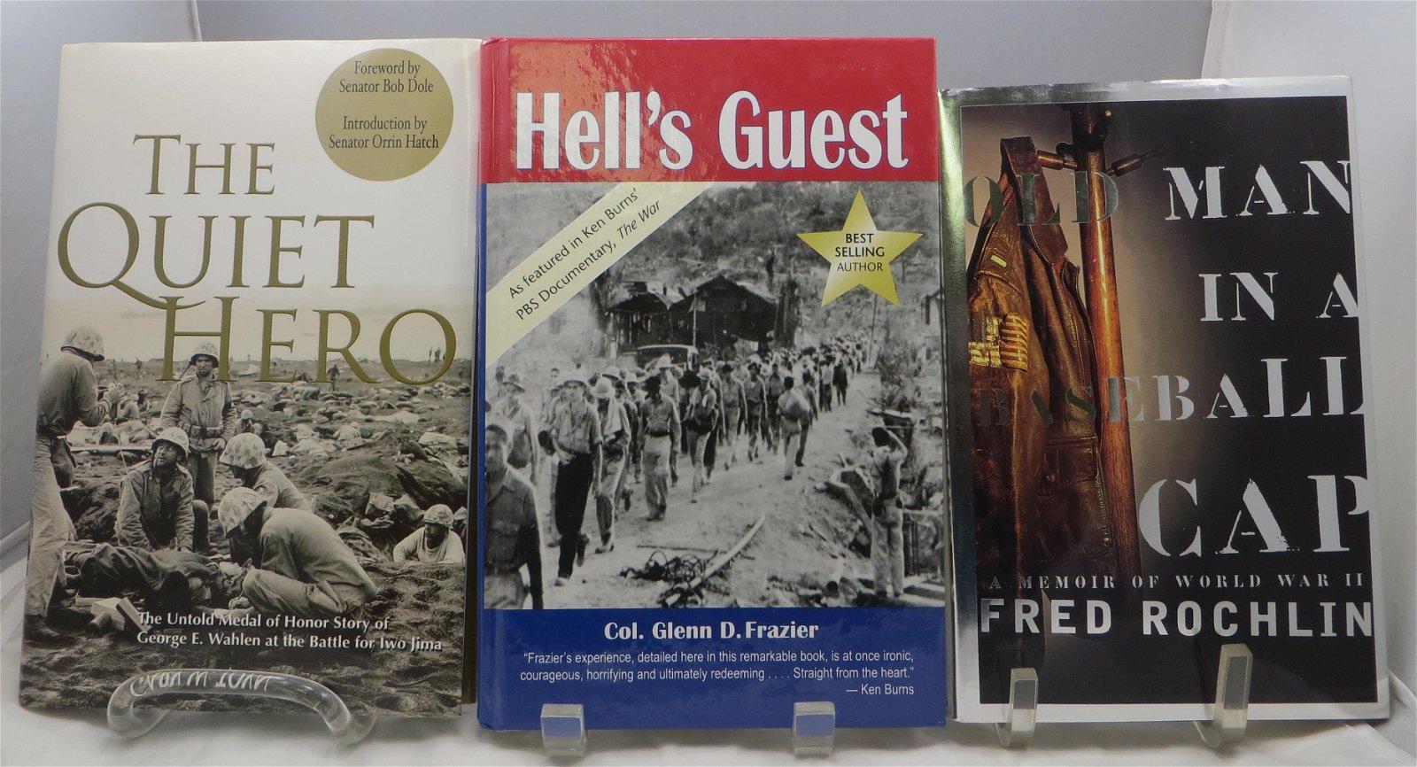 (3) WW2 MEMOIRS, ETC.: ROCHLIN, TOYN, FRAZIER; SIGNED