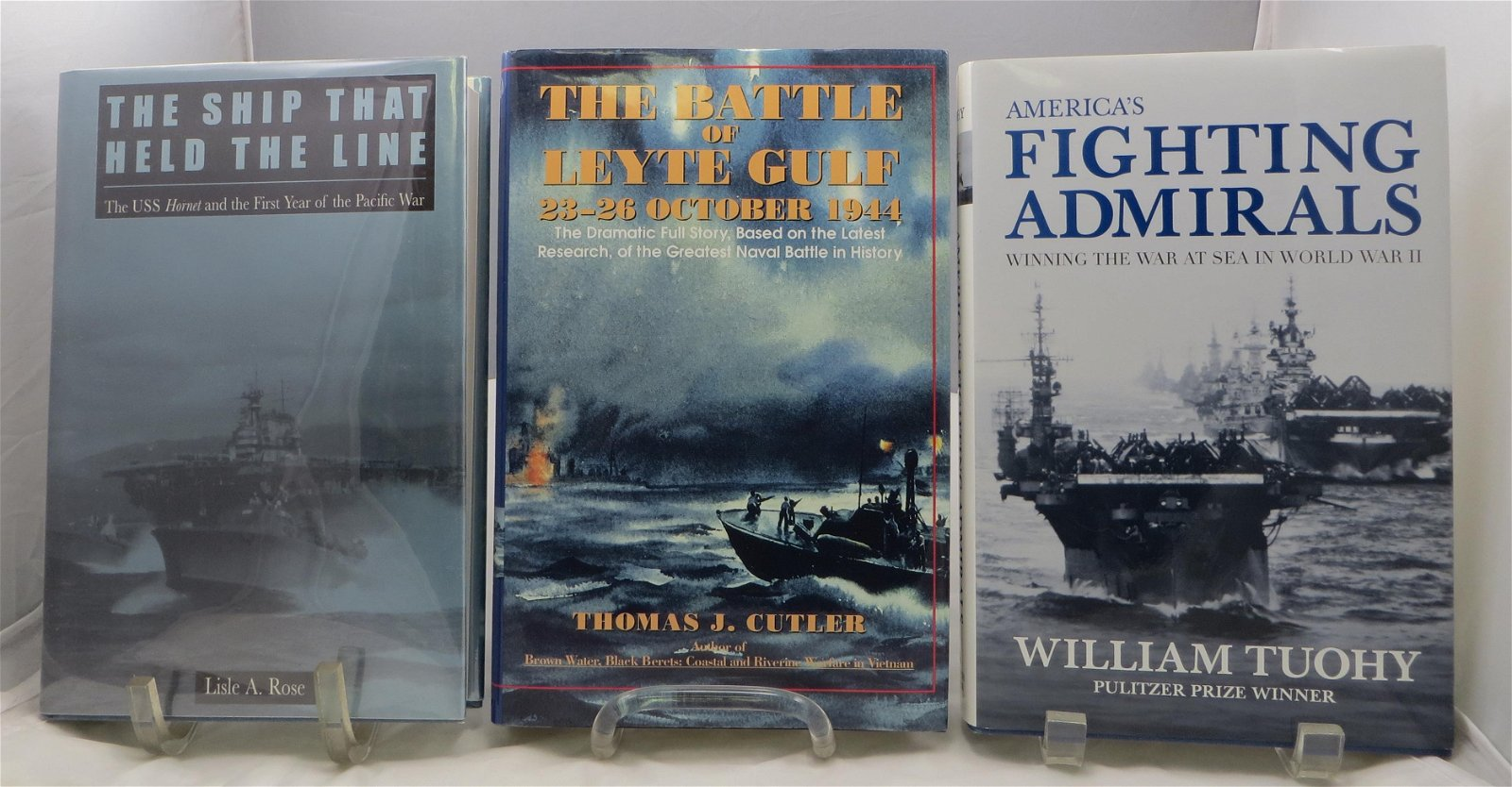 (3) WW2 NAVAL THEME BOOKS: CUTLER, TUOHY, ROSE; SIGNED