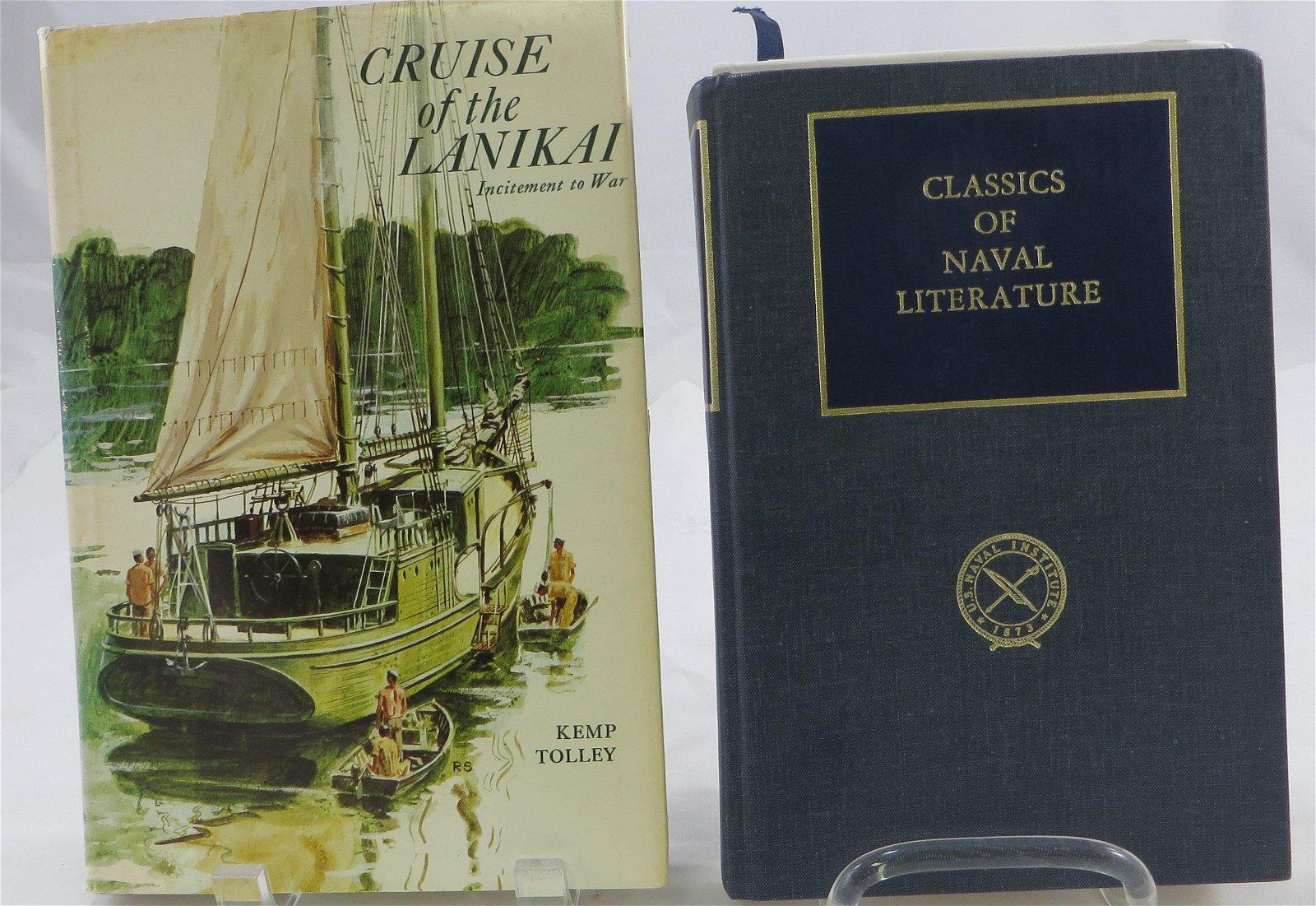 (2) WW2 NAVAL THEME BOOKS:  LANIKAI & RUN SILENT RUN