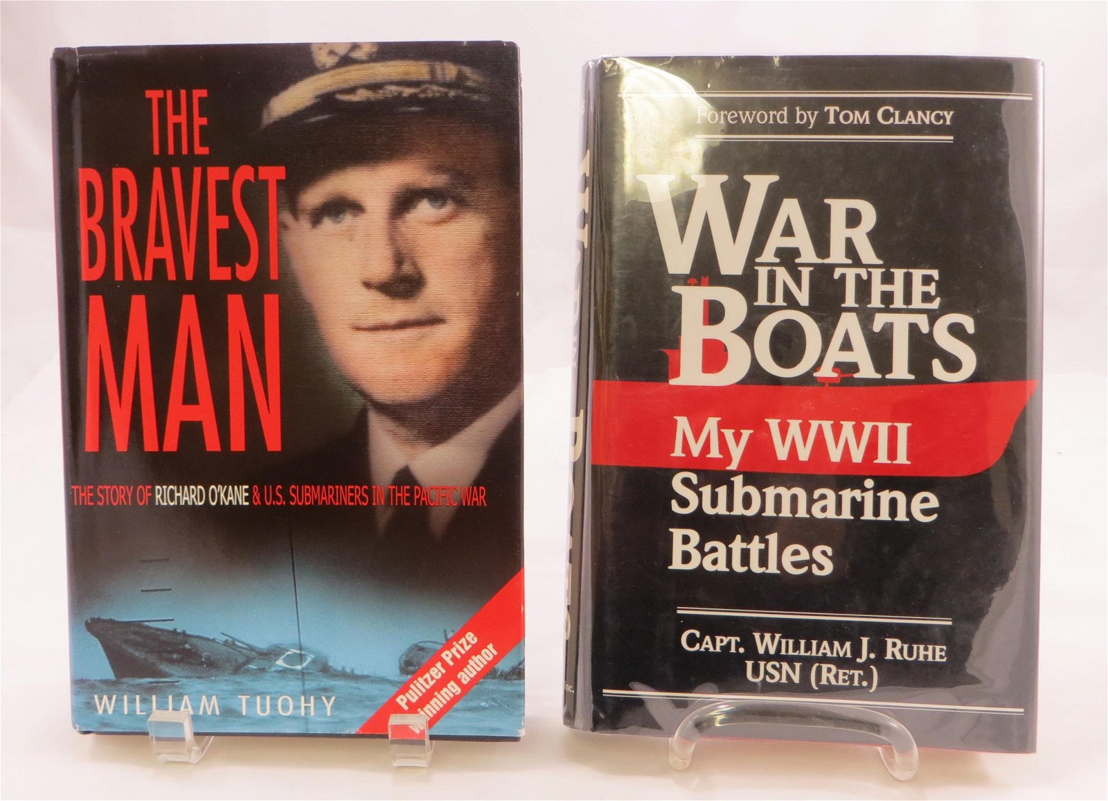 (2) WW2 SUBMARINE THEME BOOKS: RUHE, TUOHY