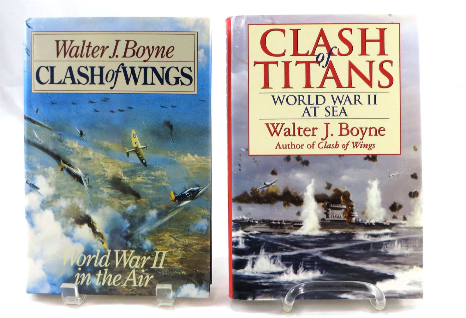 (2) WWII WALTER BOYNE SIGNED AVIATION BOOKS