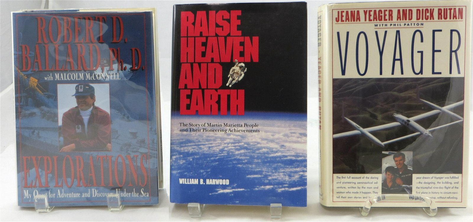(3) BOOKS ABOUT MODERN EXPLORERS &  INNOVATORS -
