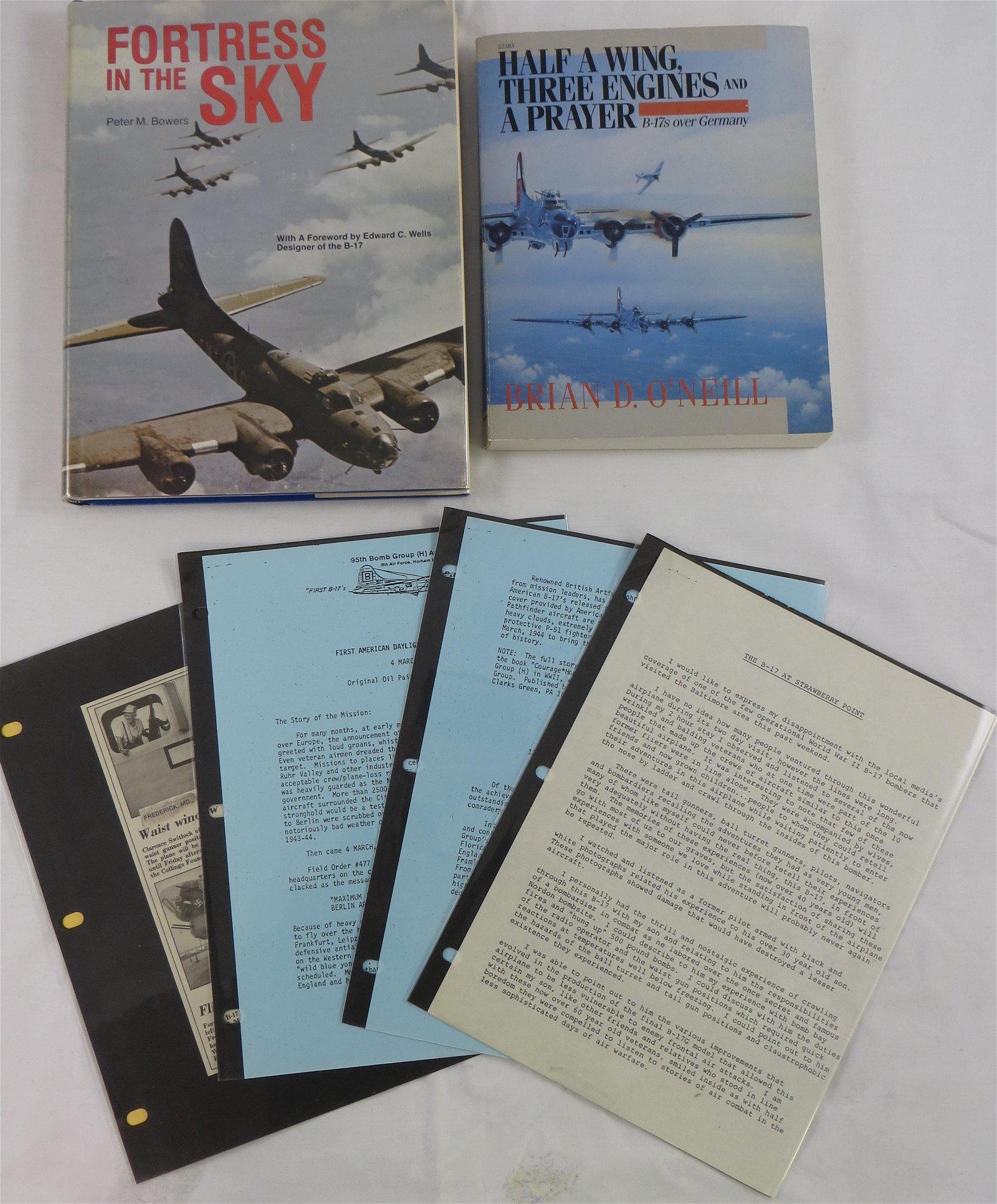 (2) WW2 AVIATION BOOKS - BOEING B-17 BOMBER RELATED
