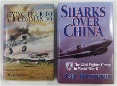(2) WW2 BOOKS - FLYING TIGERS, MOLESWORTH & BAISDEN