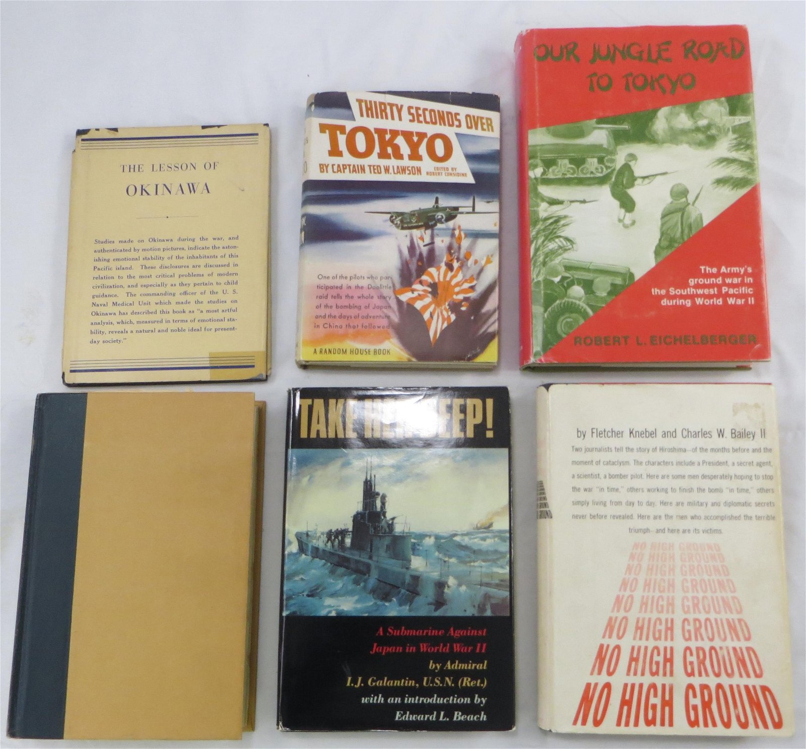 (6) WORLD WAR II BOOKS - JAPANESE  RELATED