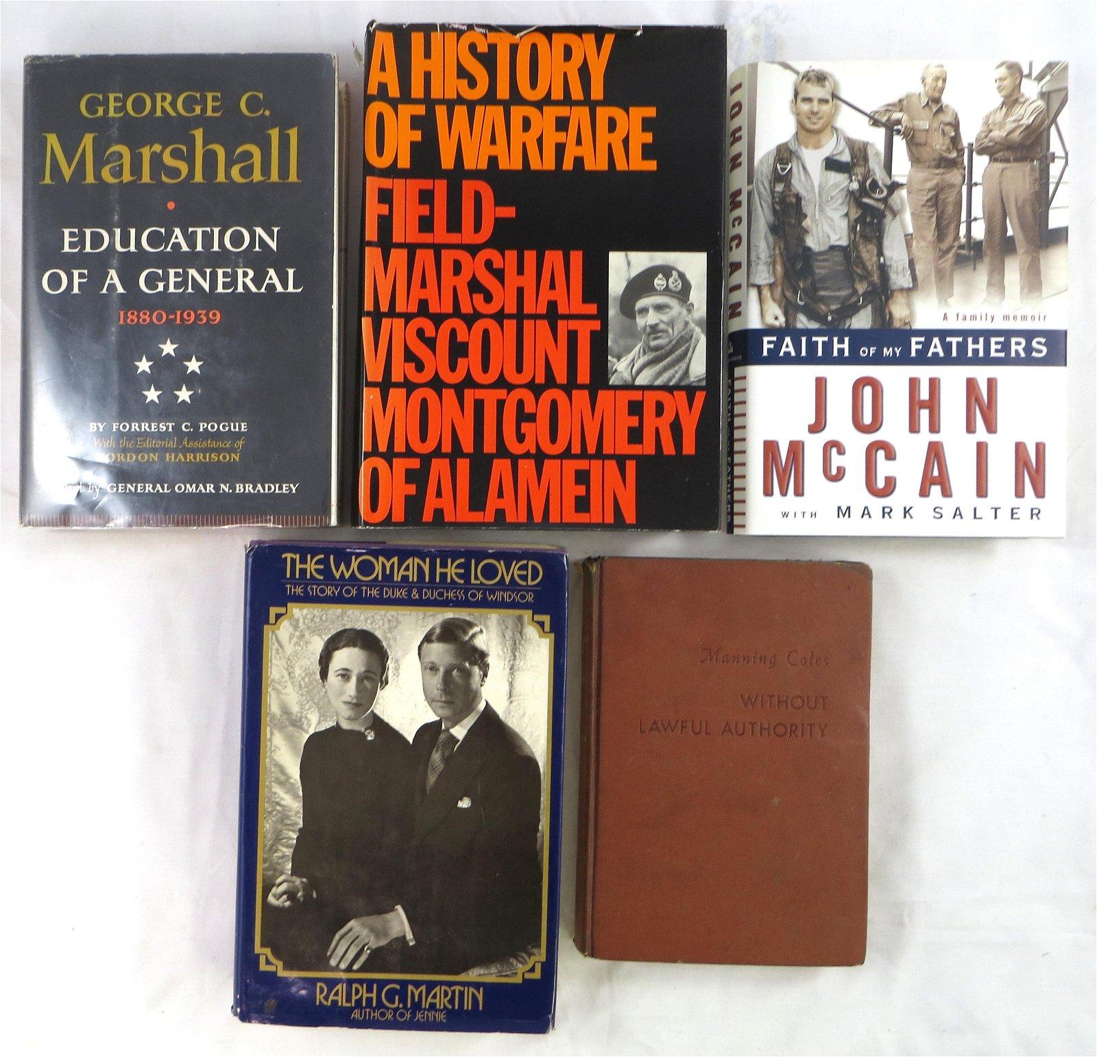 (5) WORLD WAR II BOOKS - NOVELS,  HISTORY, MISC.