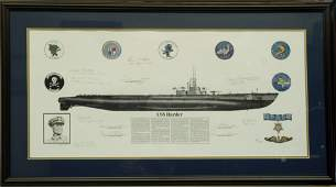 WWII USS HARDER ARTIST PROOF, SIGNED