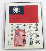 WWII FLYING TIGERS SIGNATURES on BLOOD CHIT REPLICAS