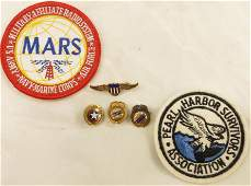 4 ASSORTED PINS 2 PATCHES MARTIN AIRCRAFT ETC