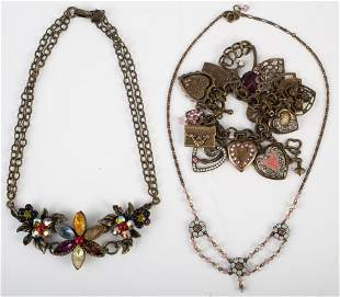 (3) VINTAGE LOOK CONTEMPORARY COSTUME JEWELRY