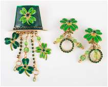 LATR 2 GO LUNCH AT THE RITZ ST PATRICKS PIN / EARRINGS