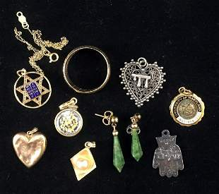 ASSORTED GOLD, GOLD TONE JEWELRY, ETC.