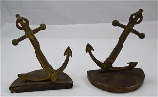 (2) PAIR BOOKENDS - ANCHOR & END OF THE TRAIL