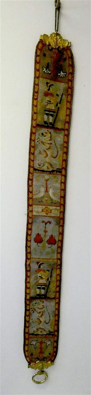 ANTIQUE NEEDLEPOINT BELL PULL