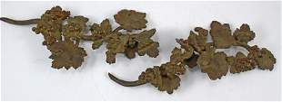(2) BRONZE ARCHITECTURAL GRAPE DECORATIVE ELEMENTS