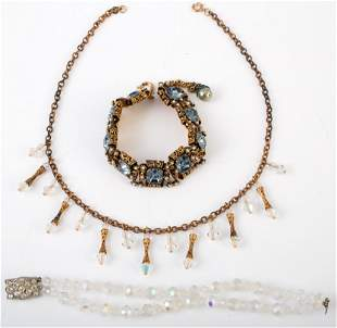 (3) RHINESTONE COSTUME JEWELRY PCS