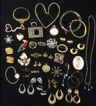 (35+/-) PCS. ASSORTED COSTUME JEWELRY