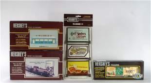 HERSHEY'S BOX CAR & ACCESSORIES (4)