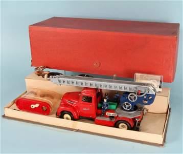 RARE SCHUCO 1955 6080 ELECTRO FIRETRUCK with BOX