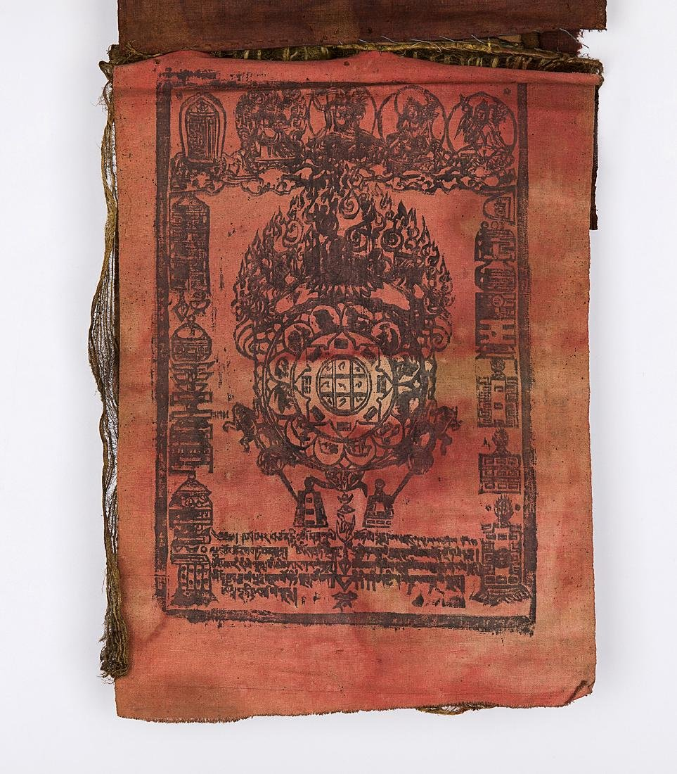 TIBET,QING DYNASTY A THAGKA OF PRINTING 4 LEAVES - 4